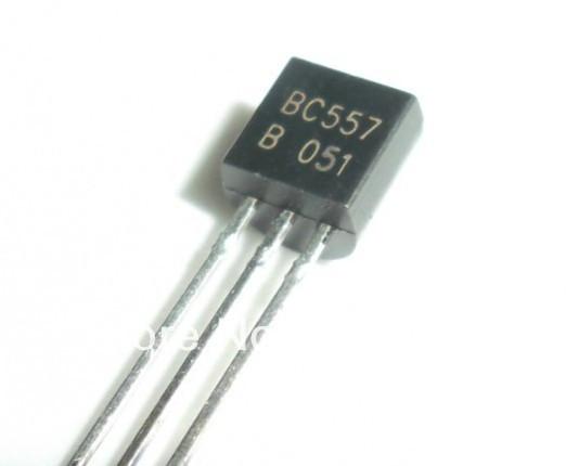 Транзистор биполярный BC557B PNP 45V 0.1A TO-92
