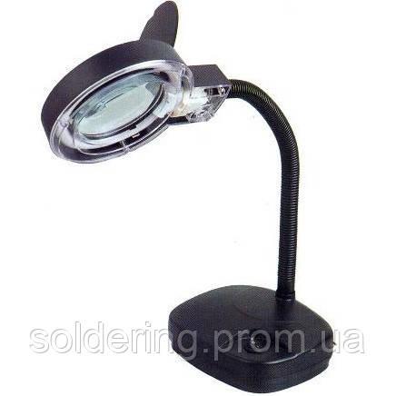 Лампа-лупа ZD-123 11W, 3Х+8X увеличение, диаметр 90 мм