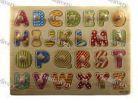 Обучающая деревянная доска Сегена, рамки вкладыши, англ. алфавит 1
