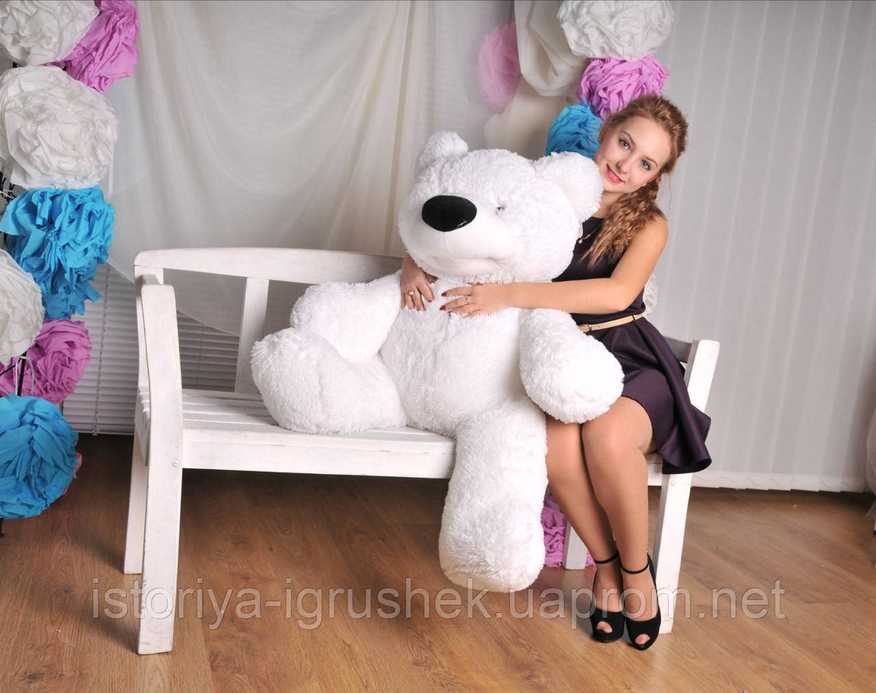 Медведь сидячий Бублик 180 см (цвета в ассортименте)