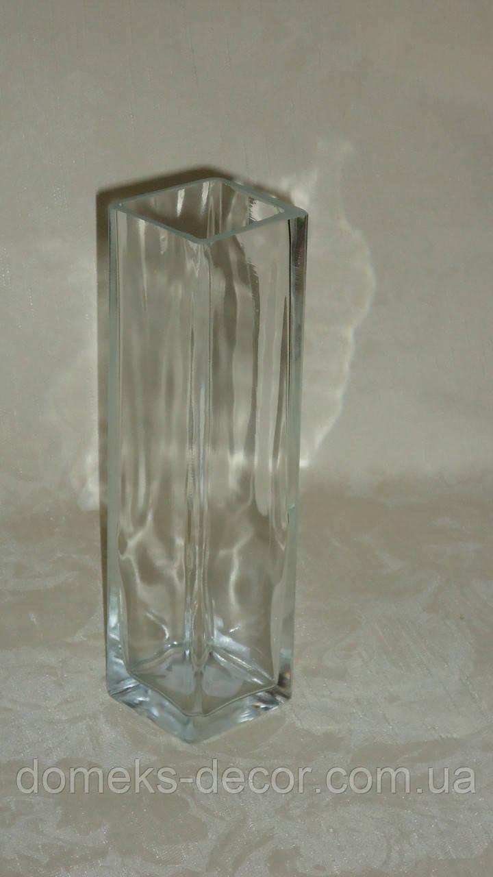 Ваза стеклянная прозрачная 21,5 см