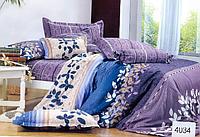 Сатиновое постельное белье евро ELWAY 4034
