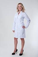 Коттоновый медицинский халат больших размеров