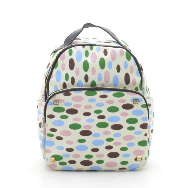 """Городской рюкзак """"Белый (разноцветный овал) CL-2003"""""""