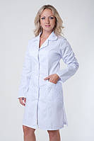 Красивый медицинский халат с карманами длинный рукав