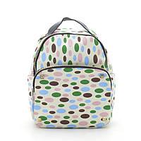 """Городской рюкзак """"Белый (разноцветный овал) CL-2003"""", фото 1"""
