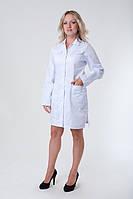 Медицинский  халат с длинным рукавом  на пуговицах недорого