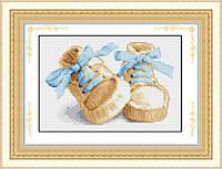 """Набор для рисования камнями (холст) """"Первые шаги"""" LasKo синие (28х19 см), фото 1"""