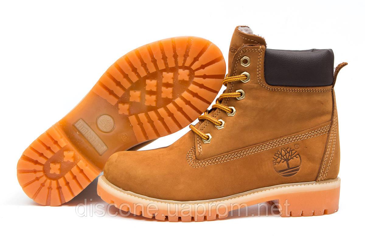 Зимние ботинки на меху ► Timberland 6 Premium Boot,  рыжие (Код: 30661) ► [  36 37 39 40  ] ✅Скидка 46%