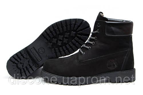 Зимние ботинки на меху Timberland 6 Premium Boot, черные (30652), р.  [  40 41 42 43 44  ]