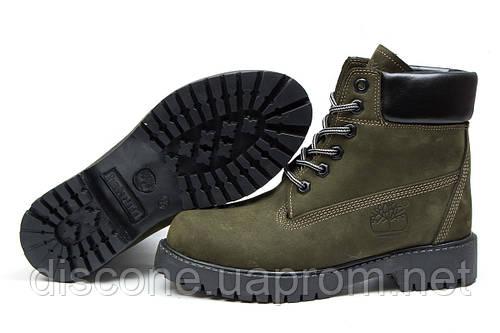 Зимние ботинки на меху Timberland 6 Premium Boot, хаки (30662), р.  [  36 37 38 39 40  ]