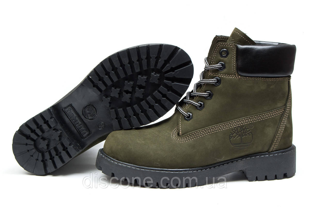 Зимние женские ботинки 30662 ► Timberland 6 Premium Boot, хаки ✅SALE! 43% ► [ 36 ]