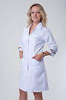 Медицинский  халат батальный с цветными вставками