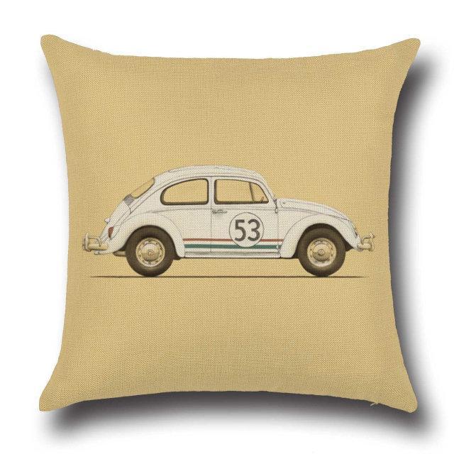 декоративная подушка с машиной магазин носик