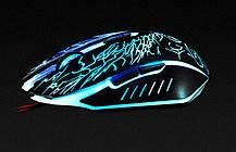 Игровая мышь мишка USB 2400DPI мышка компьютерная оптическая черная LED windows x5 IMICE, фото 3