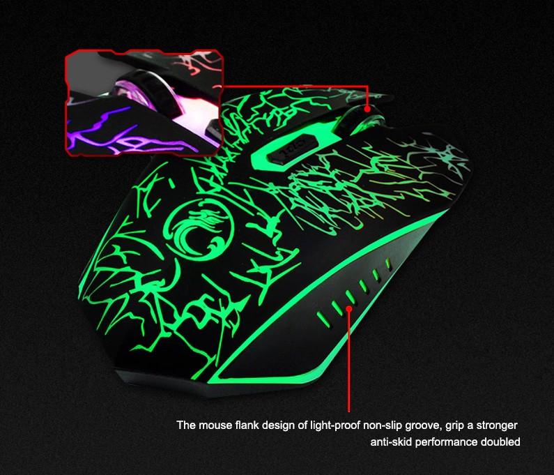 Фото игровой мыши USB 2400DPI x5 IMICE вид сзади