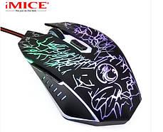 Игровая мышь мишка USB 2400DPI мышка компьютерная оптическая черная LED windows x5 IMICE, фото 2
