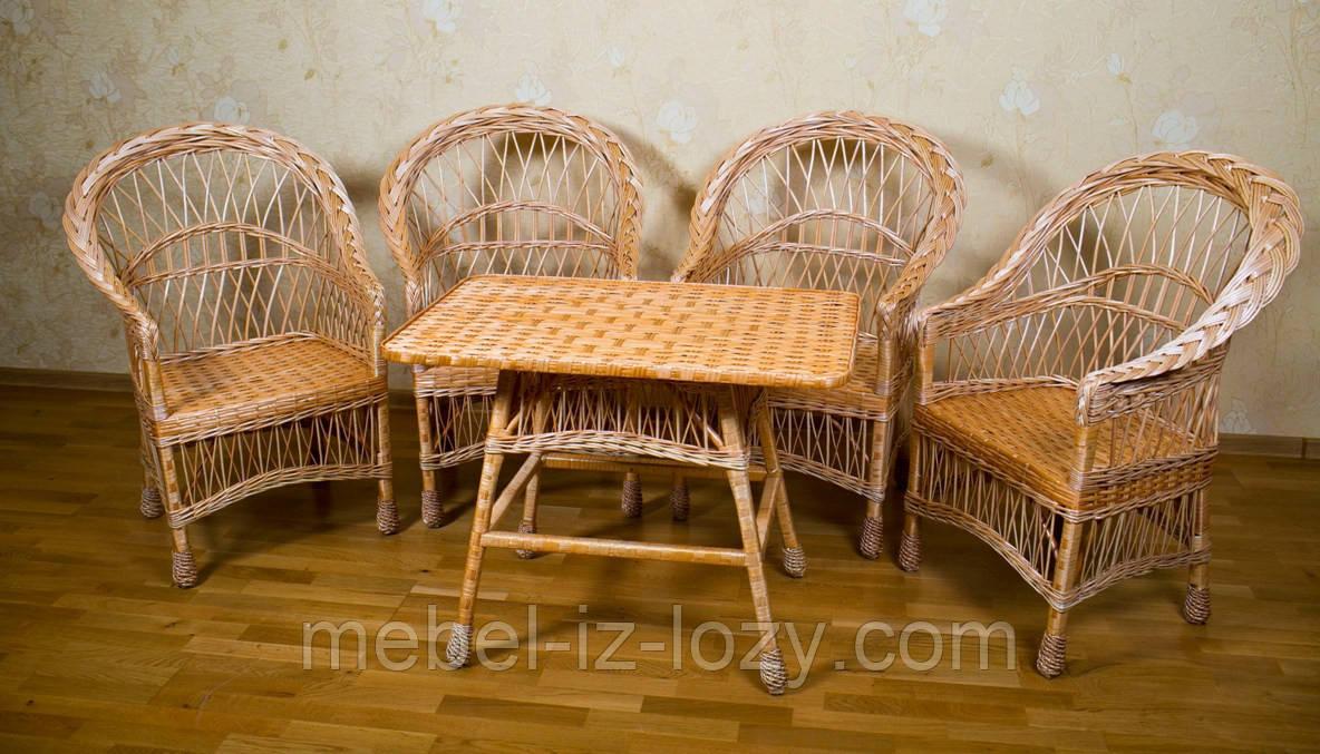 """Набор мебели из лозы от производителя """"Простой"""" - Интернет-магазин плетеных изделий из лозы (Иза) в Закарпатской области"""