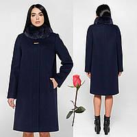 Женское зимнее пальто F 77990  Темно-синий, фото 1