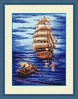 Набор для рисования камнями (холст) Отплытие LasKo (37х50см) TP007