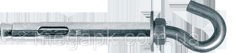 Анкер распорный с открытым кольцом 10х100мм (гайка М8)