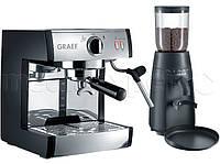 Кофемашина  GRAEF Pivalla Set (Ekspres ES 702 + кофемолка CM 702)