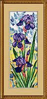 Набор для рисования камнями (холст)Ирисы TK006  LasKo 25х68 см