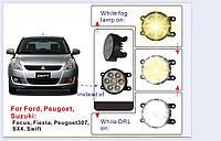 Противотуманные фары с опцией DRL для Ford, Peugeot, Renault, Suzuki, Mitsubishi, Nissan, Jaguar, Dacia
