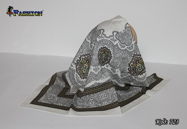 Шерстяной красивый платок Медальон, фото 2