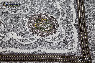 Шерстяной красивый платок Медальон, фото 3