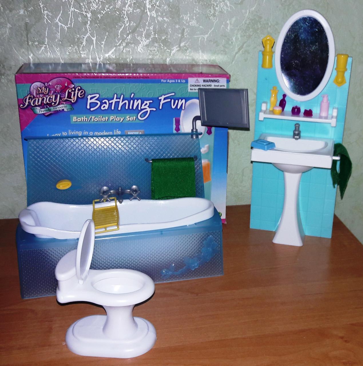 Кукольная мебель Глория Gloria 2820 Фантастическая ванная Леди