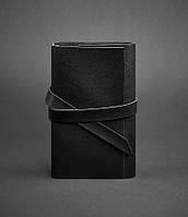 Блокнот кожаный, софт-бук черный 120 листов (ручная работа), фото 1