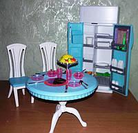 Кукольная мебель Глория Gloria 2812 современная столовая гостинная - холодильник, фото 1