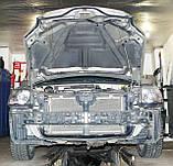 Декоративно-защитная сетка радиатора Mitsubishi Galant 2004-  фальшрадиаторная решетка, бампер, фото 2