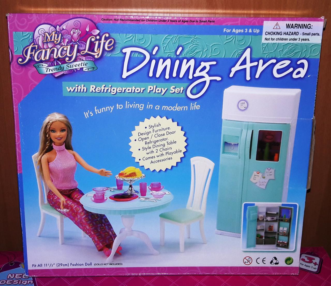 Кукольная мебель Глория Gloria 2812 современная столовая гостинная - холодильник