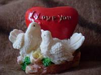 Подставка под свечку сердце с голубями, фото 1