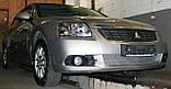 Декоративно-захисна сітка радіатора Mitsubishi Galant 2004 - фальшрадіаторная решітка, бампер, фото 4