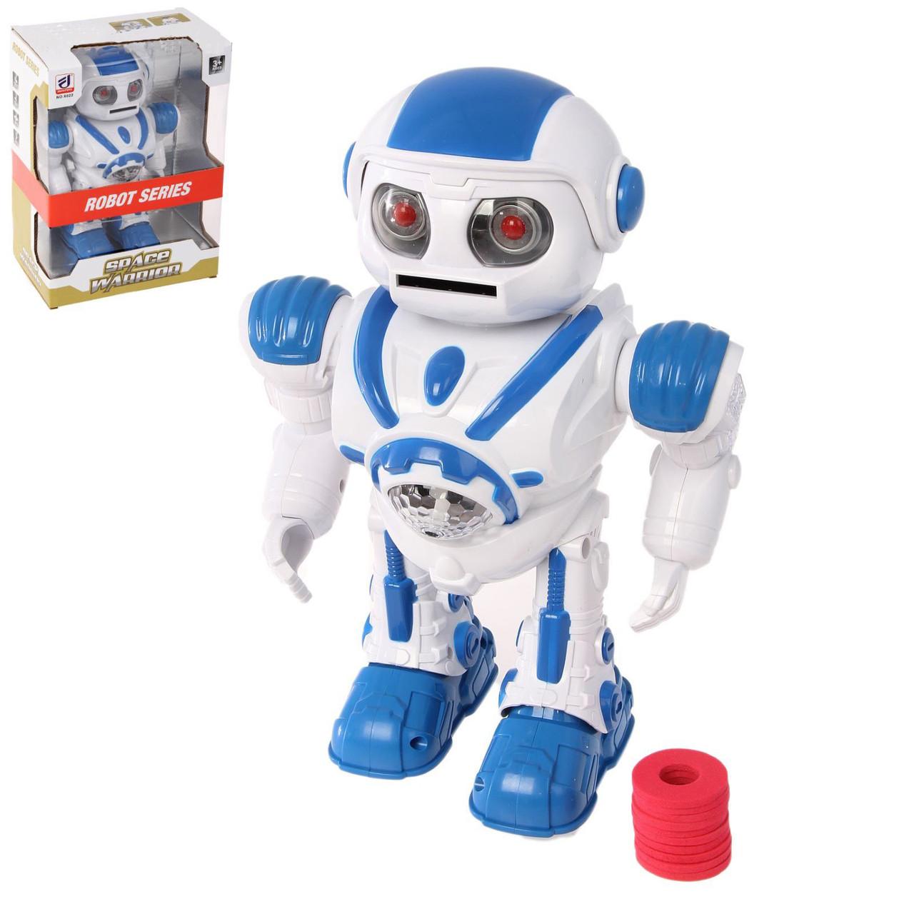 Робот на батарейках Space Warrior Космический воин 6022, свет, звук