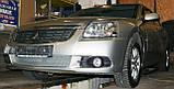 Декоративно-защитная сетка радиатора Mitsubishi Galant 2004-  фальшрадиаторная решетка, бампер, фото 5