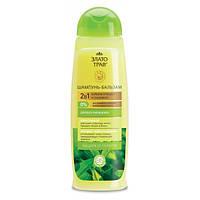 Шампунь-бальзам Защита от перхоти для всех типов волос Чайное дерево Злато трав  1 л