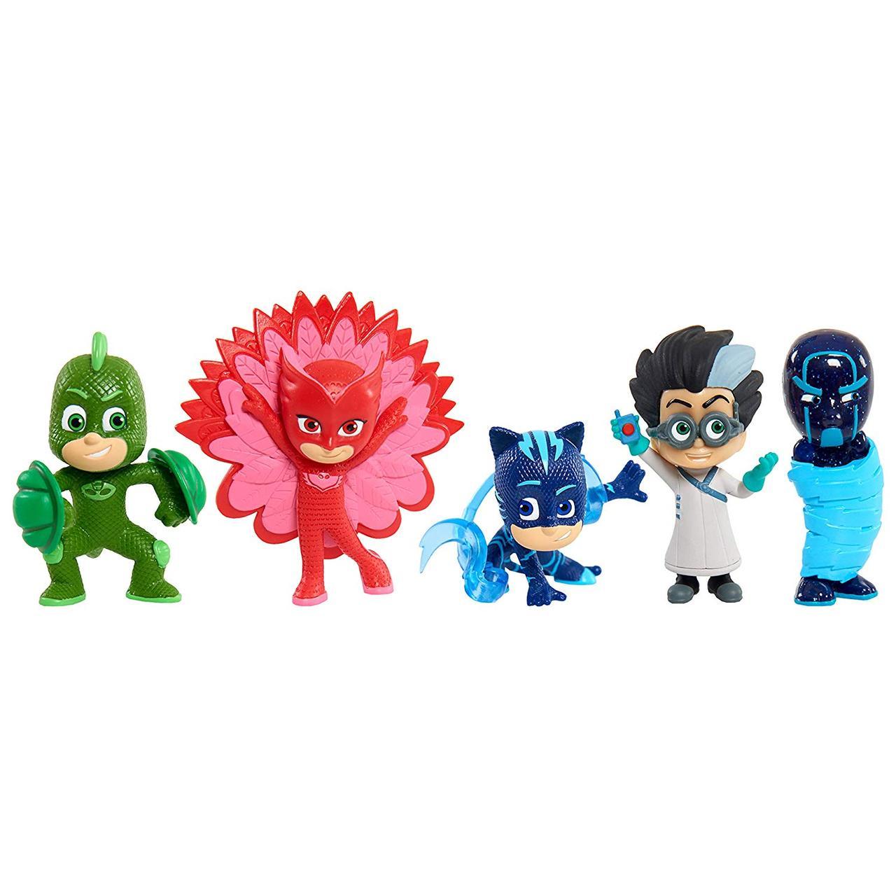Набор Герои в масках Оригинал PJ Masks Collectible Figures Set Power up poses (5 фигурок)
