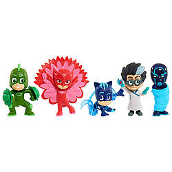 Набор Герои в масках Оригинал PJ Masks Collectible Figures Set Power up poses (5 фигурок)