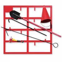 Щит пожарный открытого типа: лом, багор, ведро 2 шт, топор, лопата, кошма