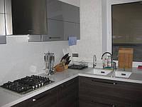 Столешница со стеновой панелью из кварцевого камня Caesarstone 3142 White Shimmer