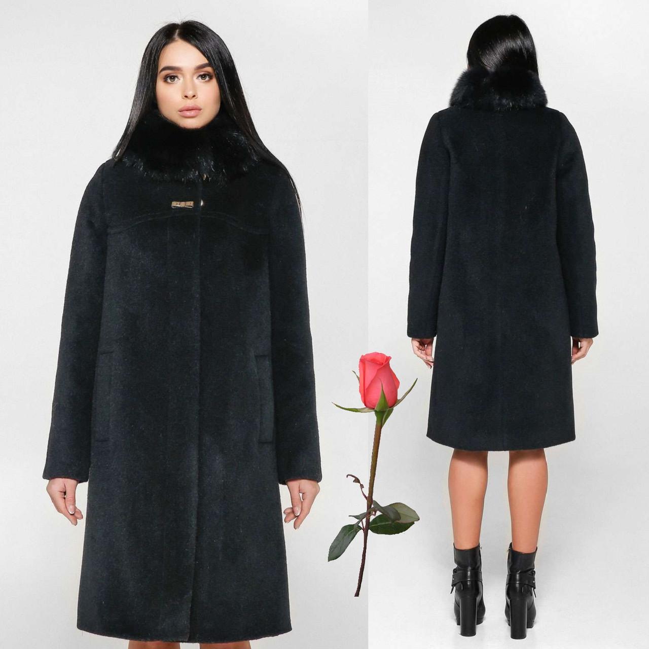 Женское зимнее пальто F 77990  Черный