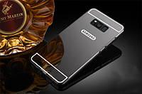 Металлический бампер с акриловой вставкой с зеркальным покрытием для Samsung G950 Galaxy S8 Черный