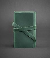 Блокнот кожаный, софт-бук зеленый 120 листов (ручная работа), фото 1