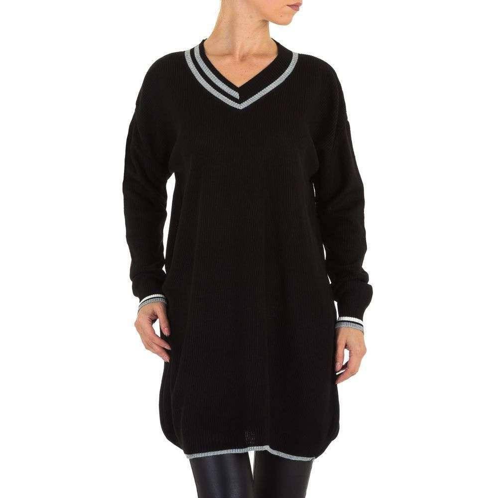 Женский пуловер туника оверсайз бренда Milas (Европа), Черный
