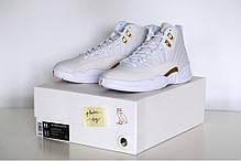 Мужские кроссовки Nike Air Jordan 12 Retro Ovo White, фото 3