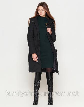 Braggart Youth | Длинная женская куртка 25495 черная, фото 2